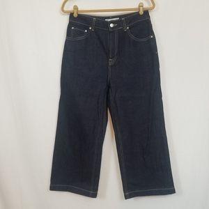 NWOT Topshop High Rise Crop jeans